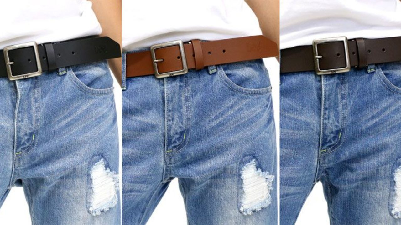 OVEYNERSIN Genuine Leather Causal Dress Belt for Men with Classic Single Prong Buckle Mens Belt
