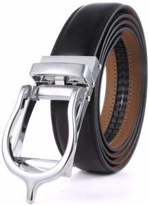 Mio Marino Dress Belt with Open Linxx Buckle