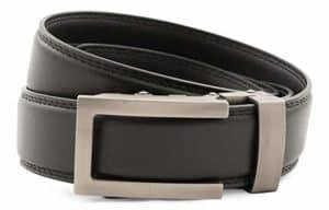 Anson Belt & Buckle Traditional Gunmetal Buckle with Ratchet Belt Strap