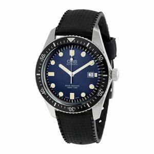 Oris Divers Sixty-Five Blue Face Black Rubber Strap Automatic Swiss Watch