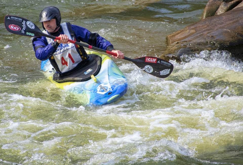 Kayaking in River