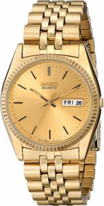Seiko Men's SGF206 Gold-Tone Stainless Steel Dress Watch