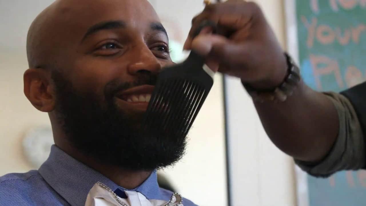 How to Brush a Black Man's Beard