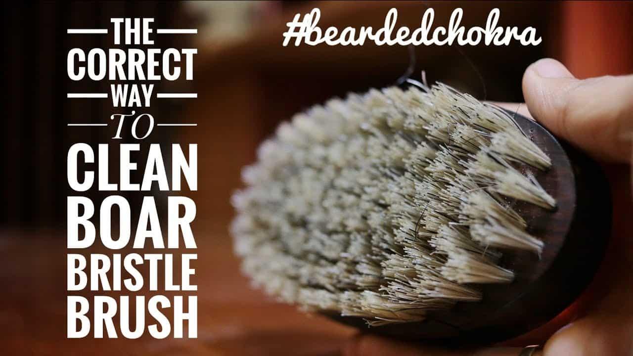 How to Clean a Boar Bristle Beard Brush?