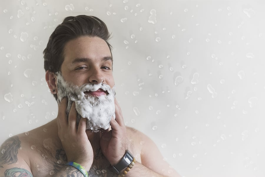 How to Wash Your Face with a Beard