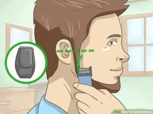 Cut the Side Burn in Front of Your Ear